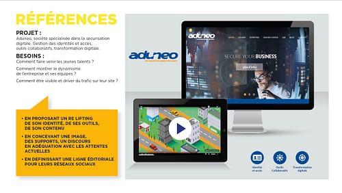 Aduneo - Secure Your Digital Workplace - Image de marque & branding