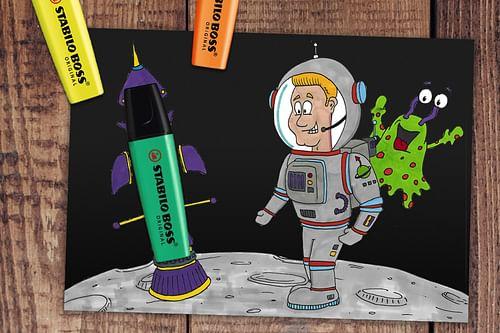 Stabilo Social Media Cartoons - Graphic Design