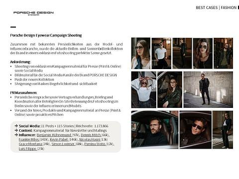 Porsche Design Eyewear Shooting with Influencer