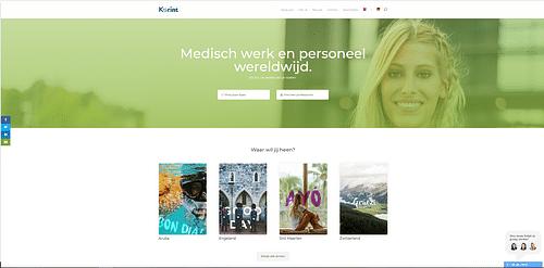 Website creation for Korint MR - Ergonomie (UX / UI)