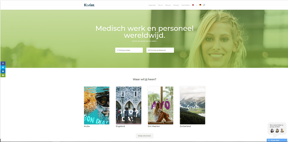Website creation for Korint MR