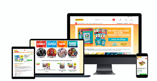 Onlineshop für Panini - E-Commerce