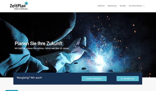 Responsive Webdesign für Zeitarbeitsunternehmen - Webseitengestaltung