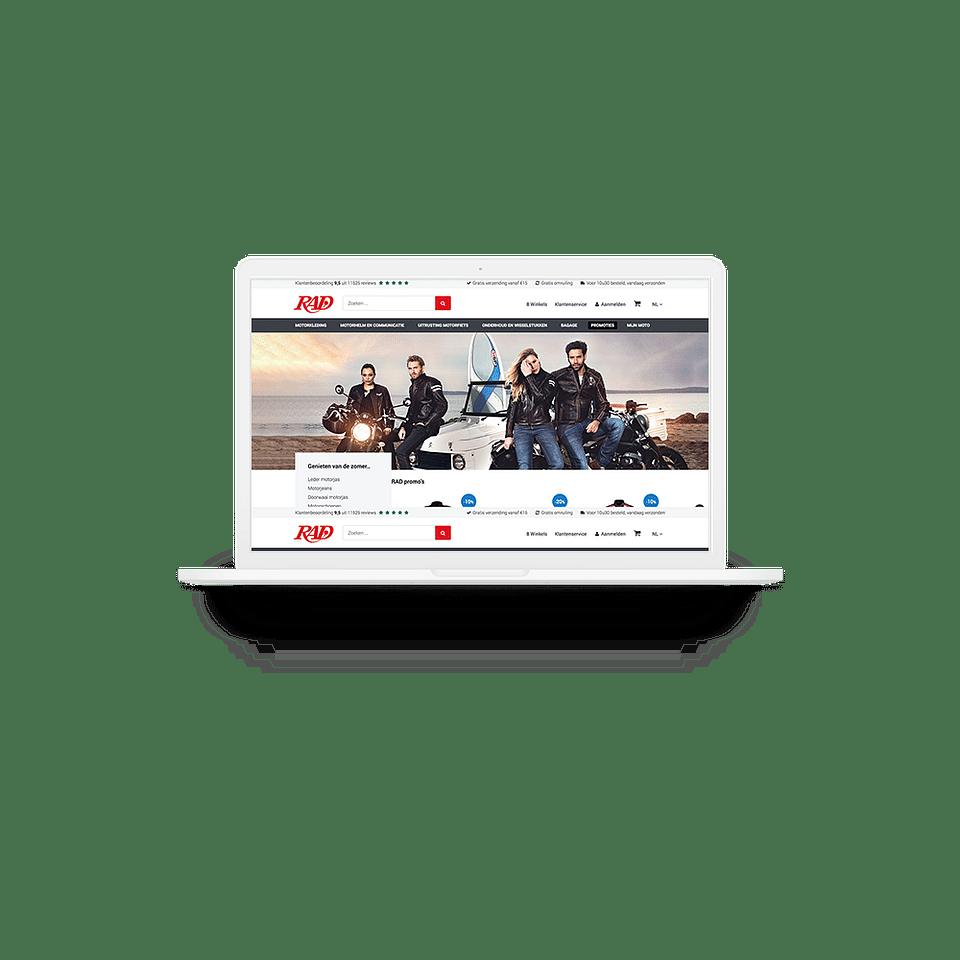 UX-design RAD webshop
