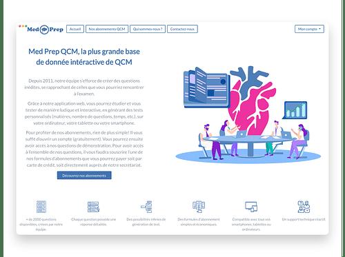 MedPrep Medical Exams Website App - Web Application
