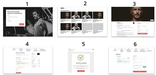 B2C self-service artist booking system - Web Applicatie