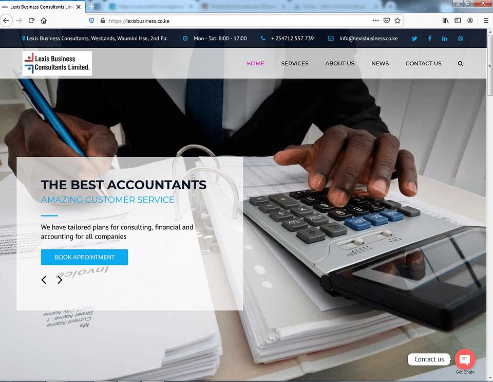 Lexis Business Website design