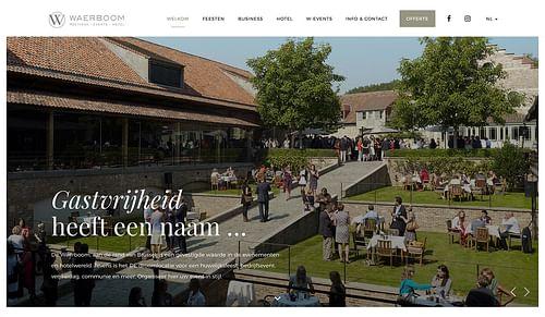 Webdesign voor Waerboom Brussel - Ontwerp