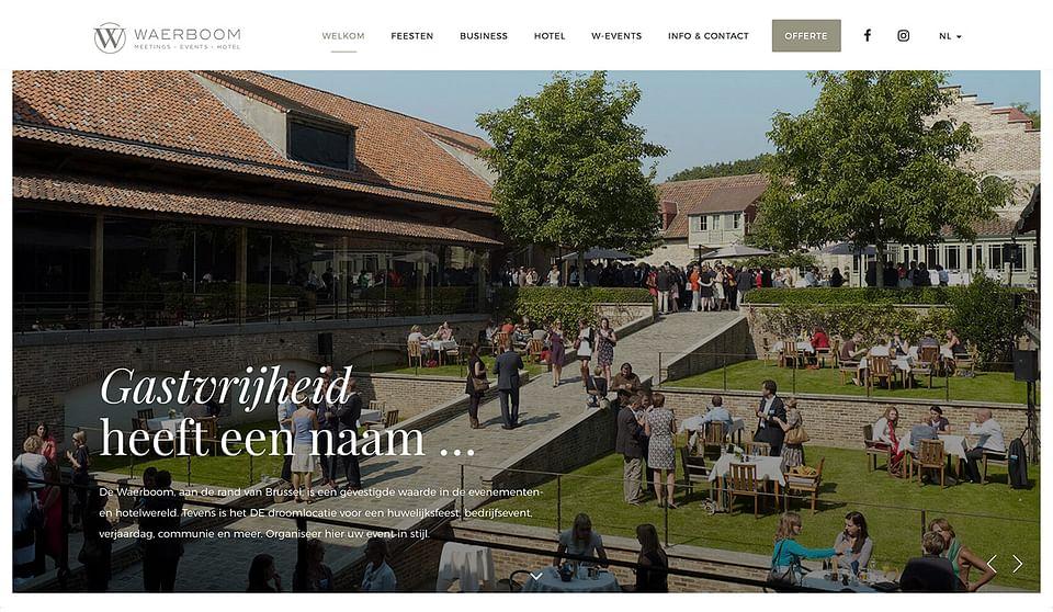 Webdesign voor Waerboom Brussel