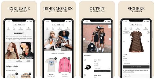 iOS App für NICKIS.com - Webseitengestaltung