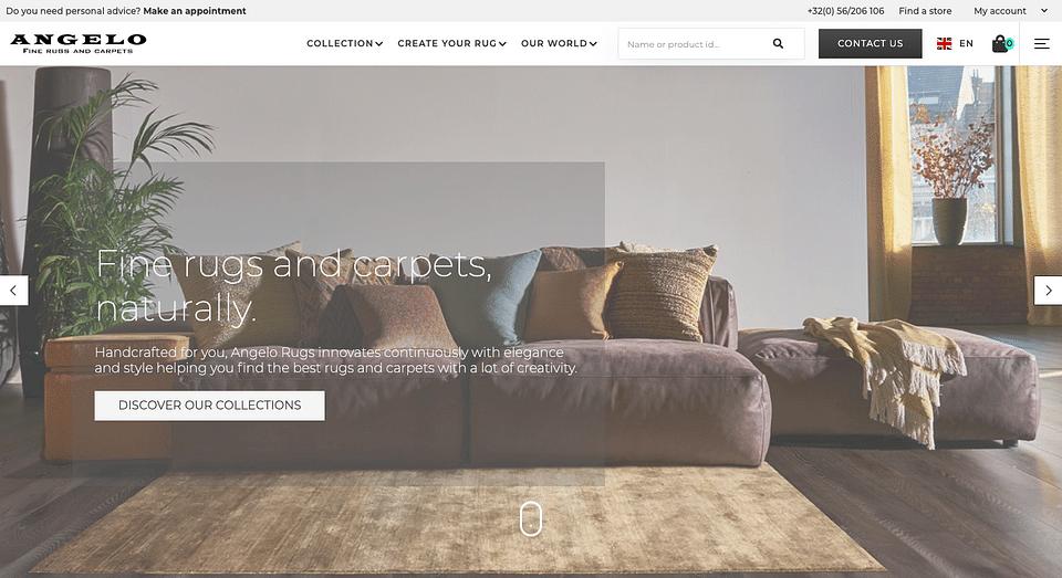 Angelo Rugs E-commerce et Custom Portal