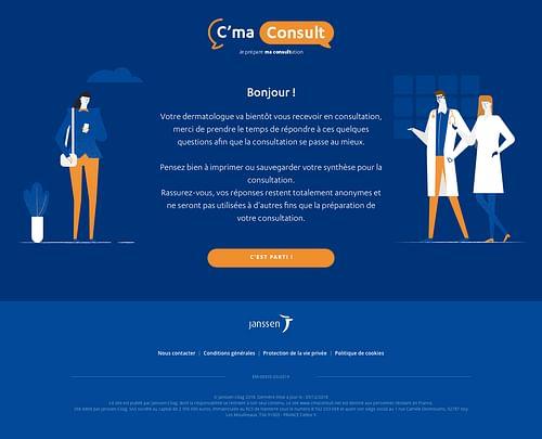 Chatbot C'Ma Consult - Janssen - Application web