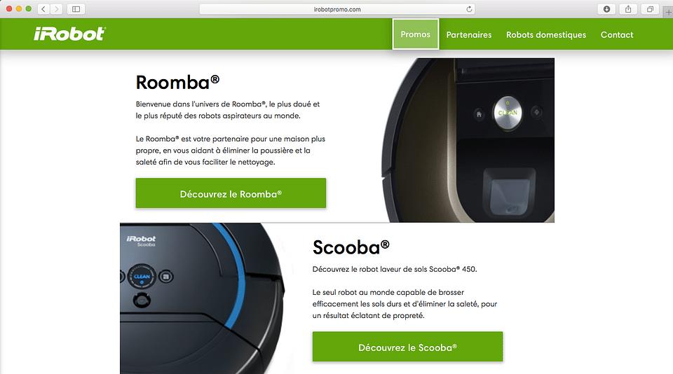 iRobot Website