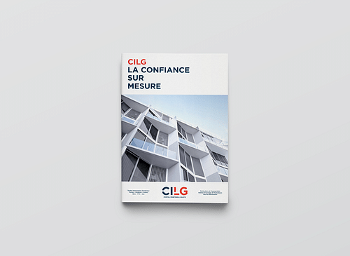 Brochure promotionnelle pour CILG Construction. - Design & graphisme