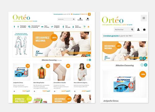 Site e-commerce Ortéo - E-commerce