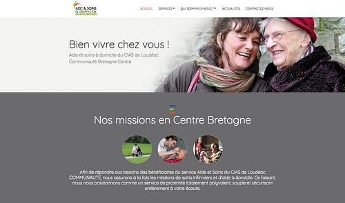 Site internet du service aide et soins à domicile - Design & graphisme