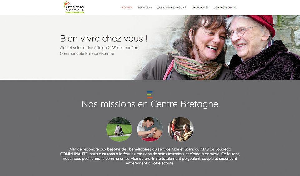 Site internet du service aide et soins à domicile