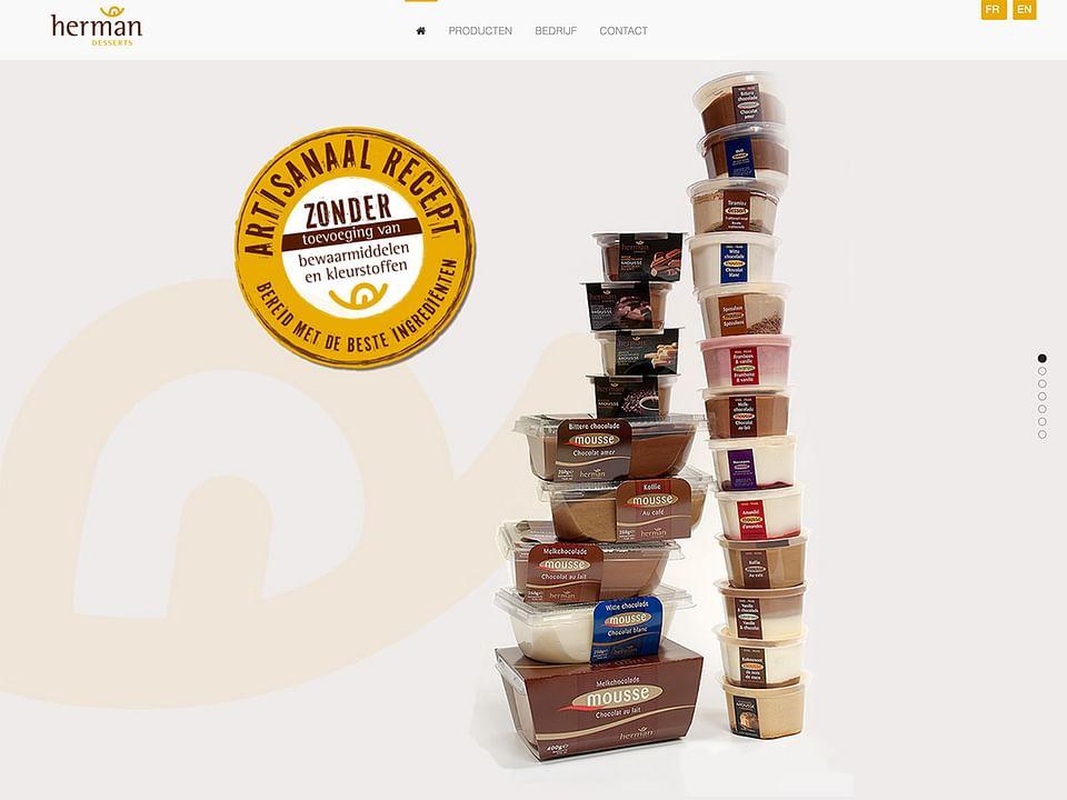 Website en fotografie voor Herman Desserts