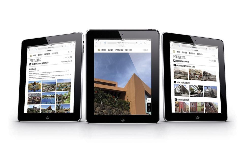 Website design for ACH-Arquitectos