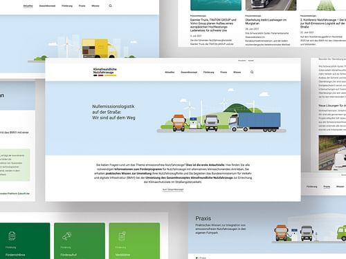 Websitegestaltung und Umsetzung für das BMVI - Grafikdesign