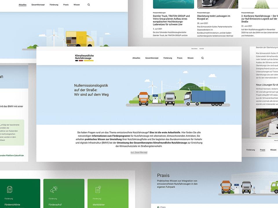Websitegestaltung und Umsetzung für das BMVI