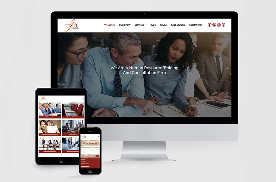 J.PR & Associates Website Design