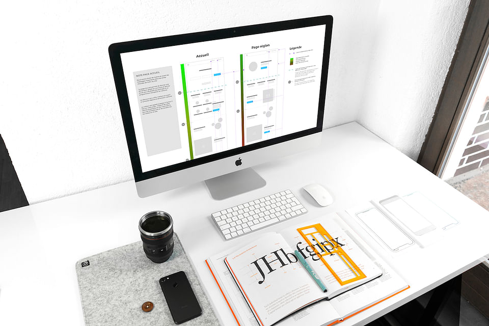 UX stratégie et wireframe  [Construction Site web]