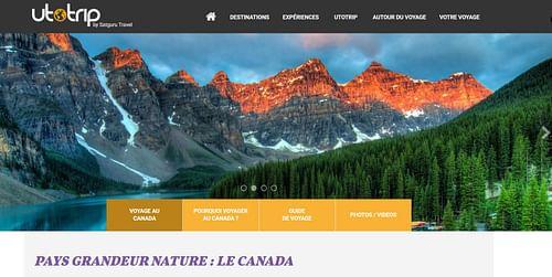 Création d'un site d'une agence de voyage UTOTRIP - Création de site internet