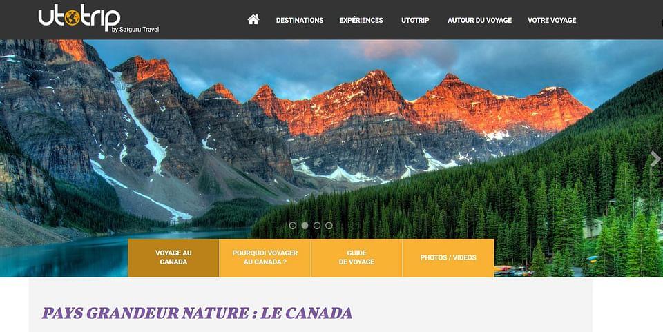 Création d'un site d'une agence de voyage UTOTRIP