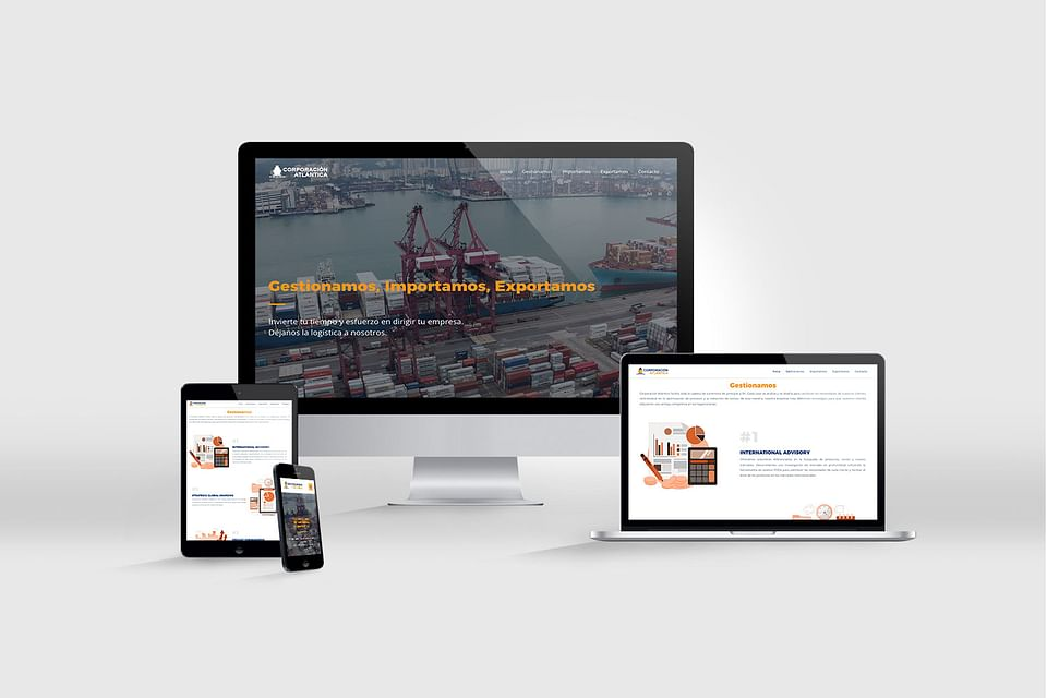 Diseño Web Corporación Atlántica