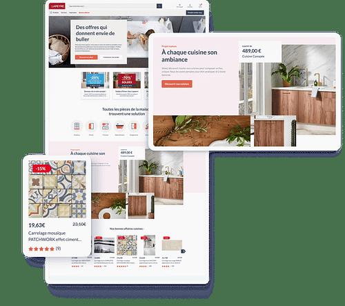 Lapeyre, refonte site e-commerce & Design System - Stratégie digitale
