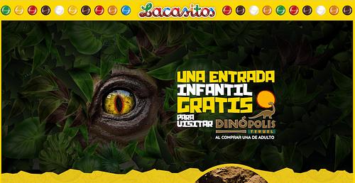 Lacasitos promoción especial Dinópolis - Creación de Sitios Web