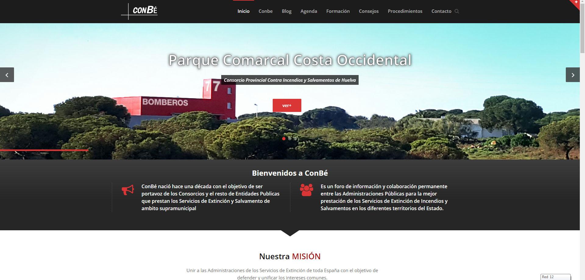 Web y gestión de redes de ConBé - Diseño Gráfico