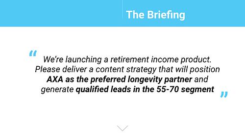 Axa Pensioenavonturen - Content Strategy