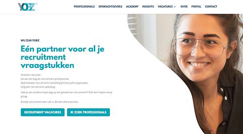 Website Design & Development voor YOBZ - Digital Strategy