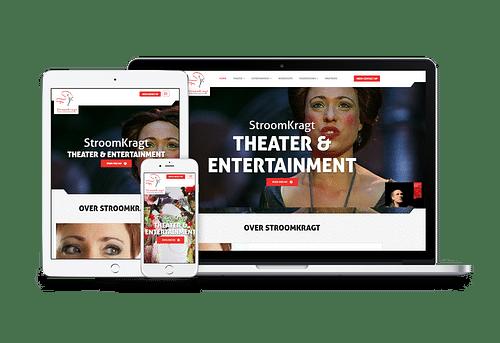 Website Stroomkragt Theater & Entertainment - Website Creatie