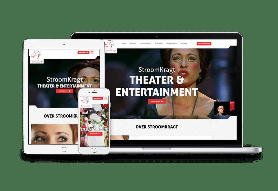 Website Stroomkragt Theater & Entertainment