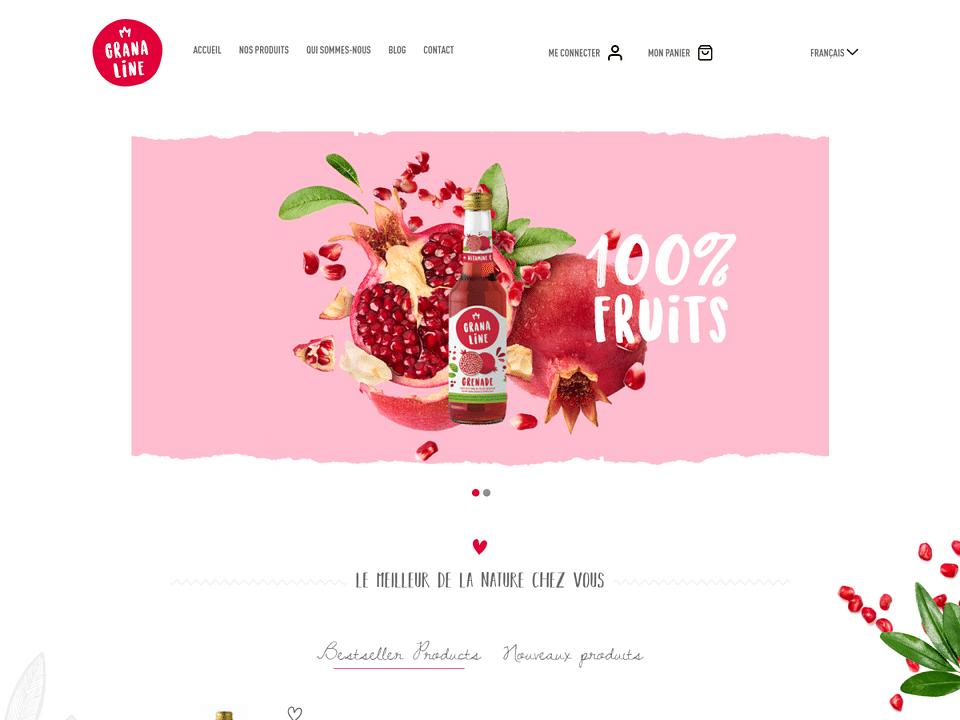 Granaline : Création du site e-commerce