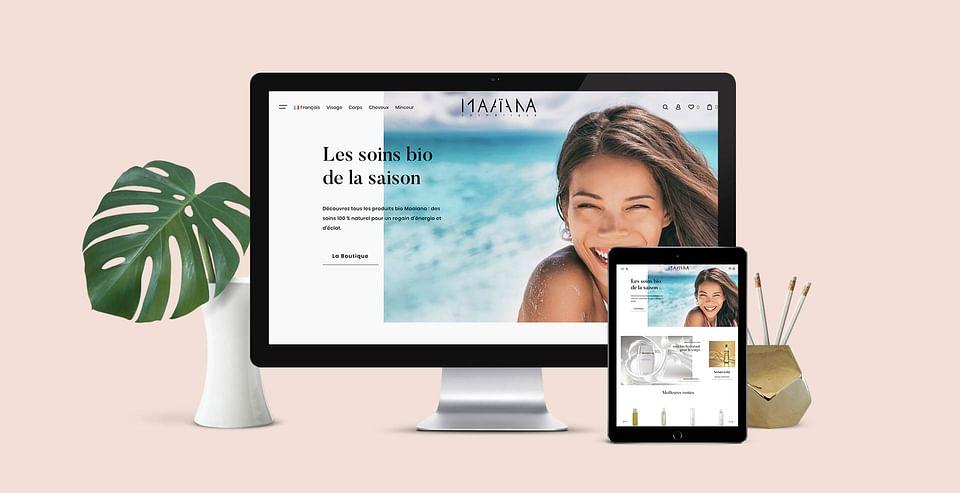 Site e-commerce pour produits cosmétiques bio