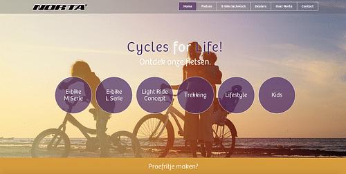 Website Norta - Hét Belgische fietsenmerk - Website Creatie