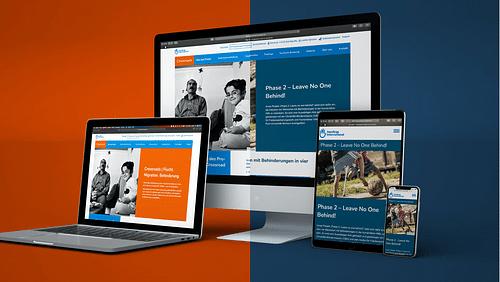 Barrierefreie Websites für Handicap International - Webseitengestaltung