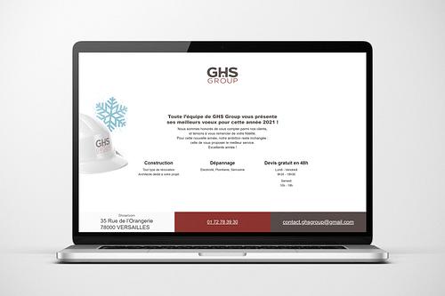 Création d'un site vitrine pour GHS Group - Création de site internet
