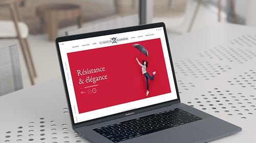 Parapluies de Cherbourg - Publicité en ligne