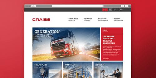 Responsive Website für Logistik-Profi - Grafikdesign