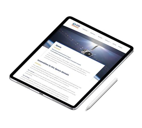 Corporate website ATG Europe - Website Creatie