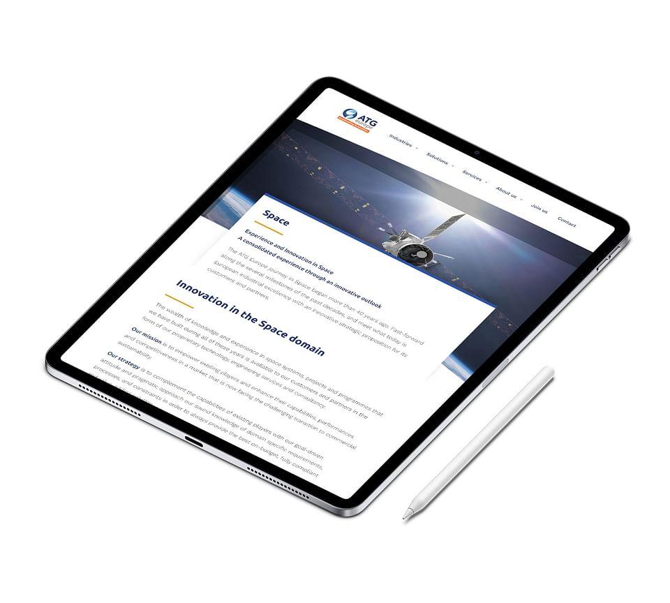 Corporate website ATG Europe