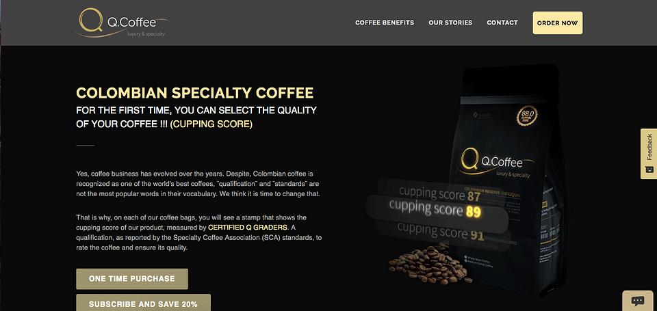 Q. Coffee - Web Development