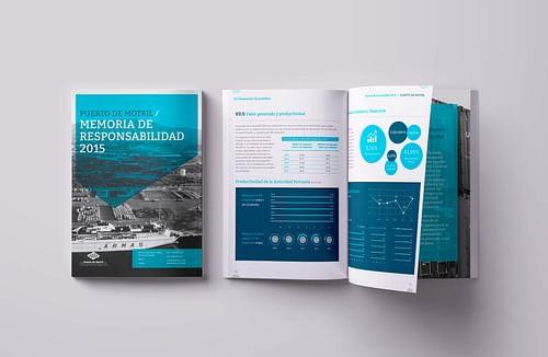 Memoria anual de Puerto de Motril - Branding y posicionamiento de marca