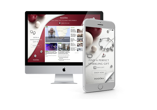 Pandora Liquid Desktop Skin and Mobile Interscroll - Online Advertising