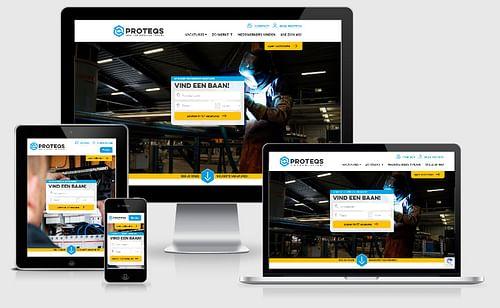 Proteqs   Website uitzendorganisatie - Website Creatie